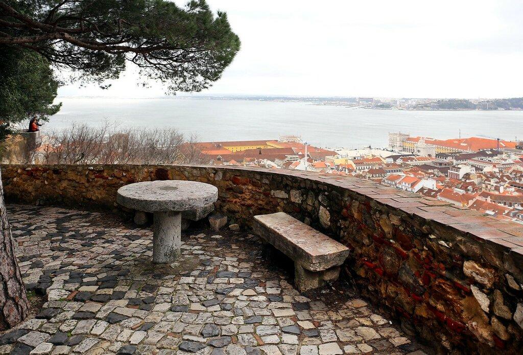 Lisbon. St. George's Castle. Square of Arms (Praça d'armas)