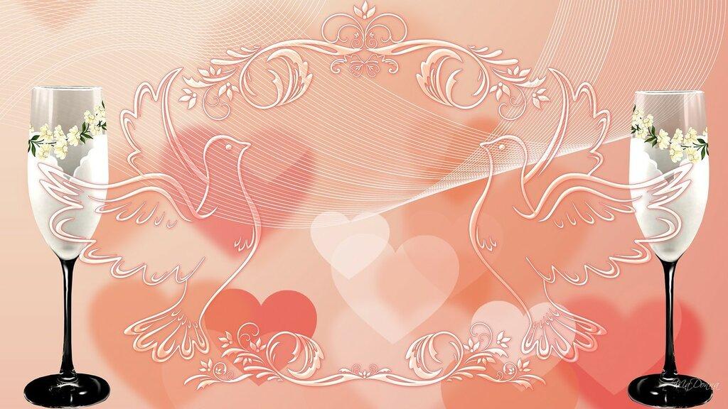 Красивый фон на свадебную открытку, артикул открытки начало