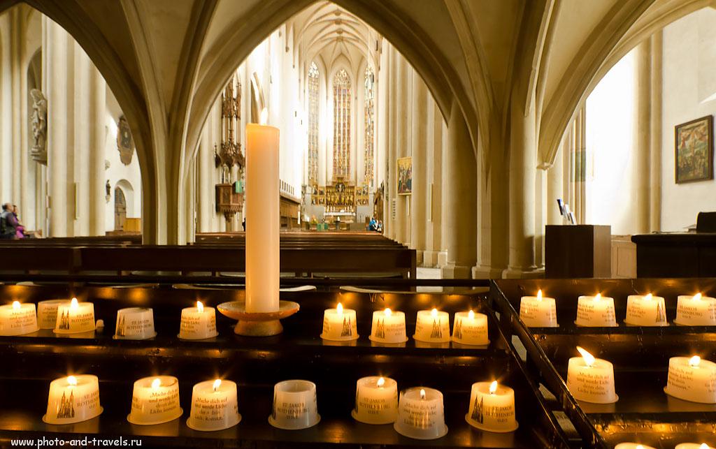 """16. Недавно я опубликовал фотоурок """"Как снимать портреты при свете свечей""""... Толчком стала вот эта фотография со свечами в соборе... Поездка в Ротенбург-на-Таубере на машине из Франкфурта."""