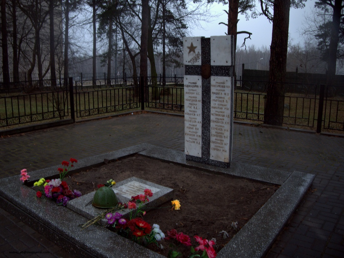 """Памятник """"Братская могила"""" воинов-освободителей 219 гвардейского стрелкового полка в Новополоцке."""
