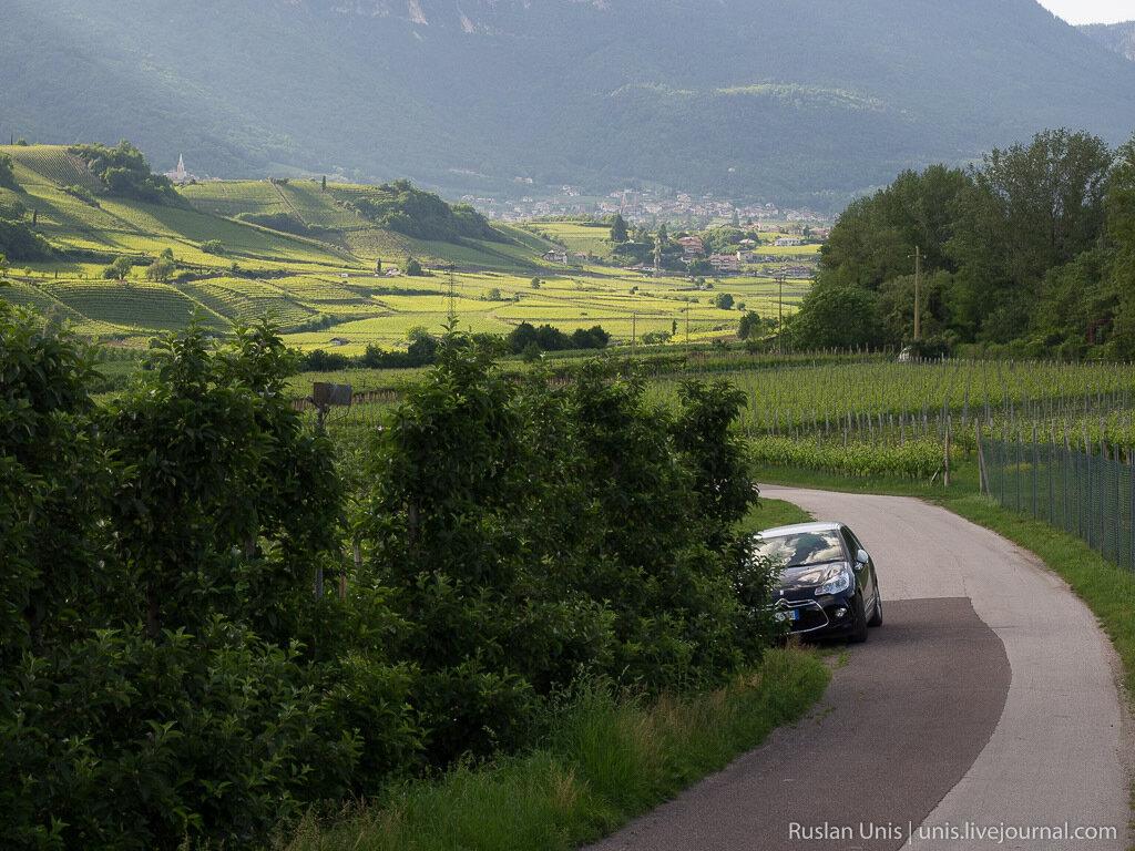 Путешествие на машине по Италии