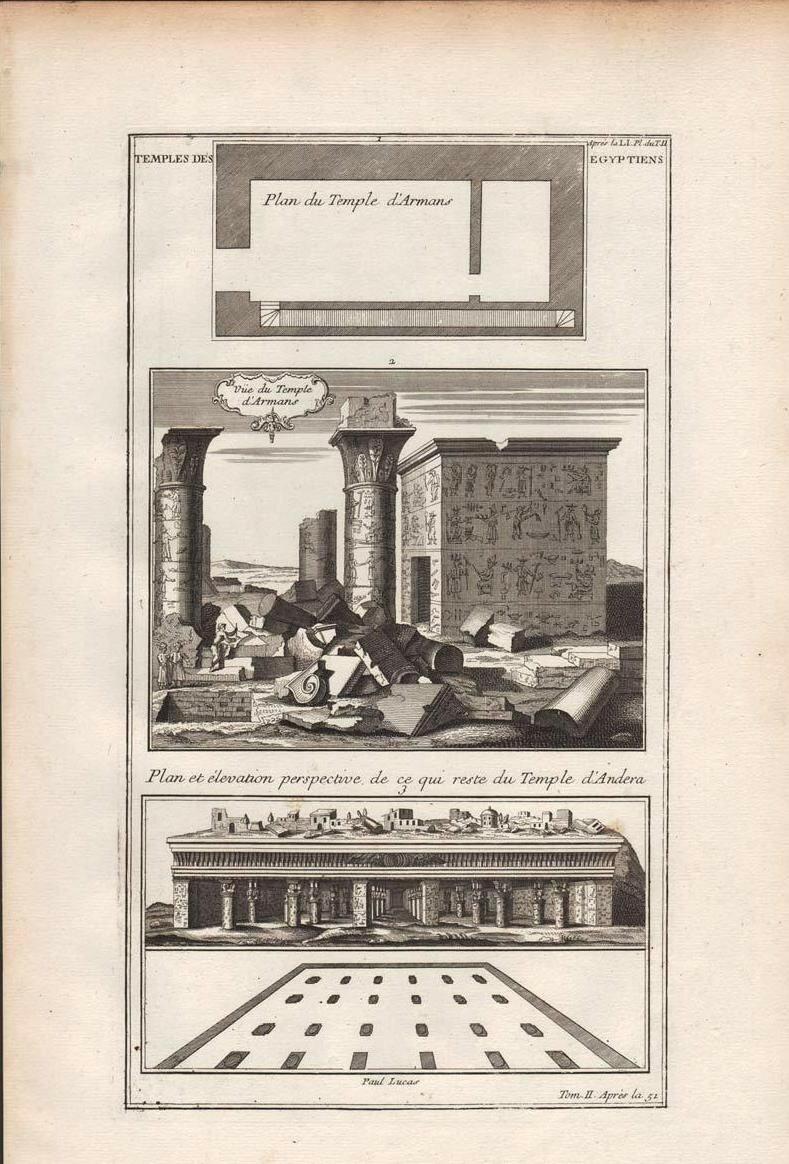 1719. Изображения и план храма