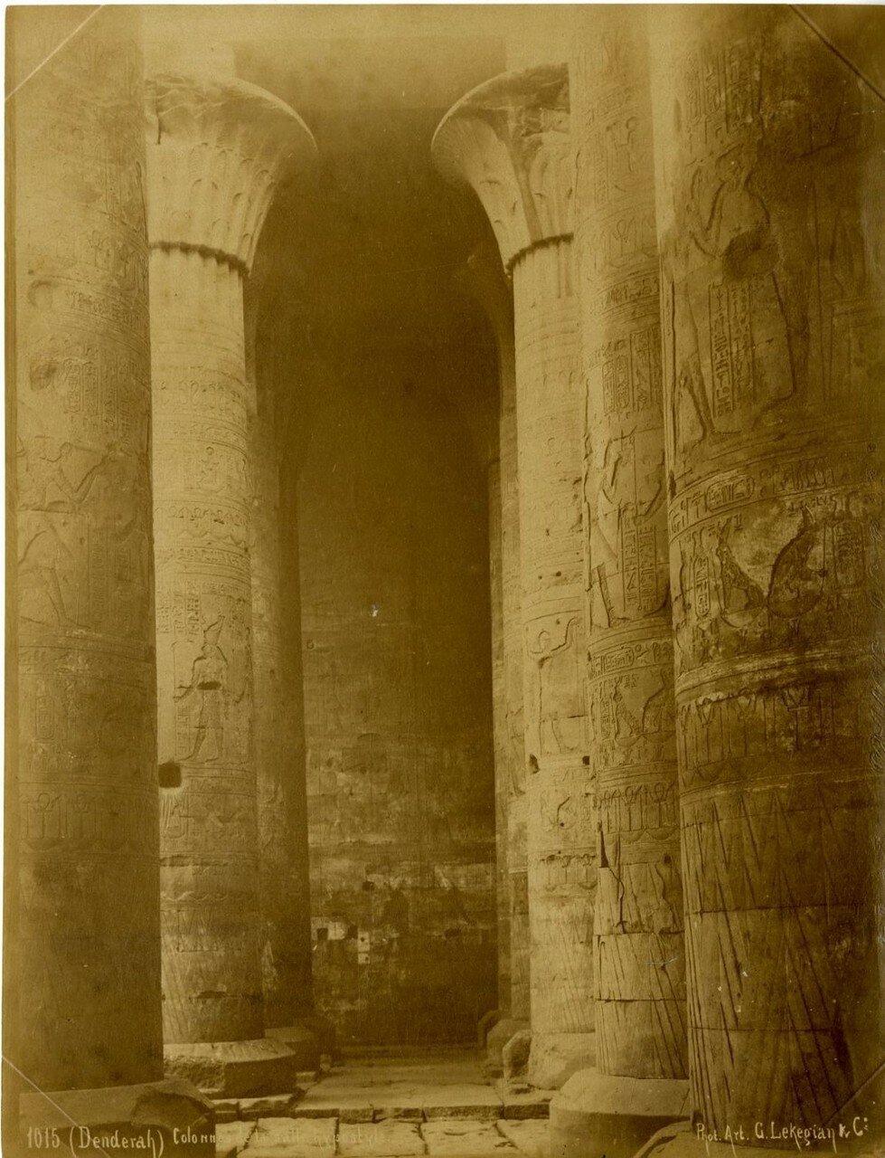 1890-е. Эдфу. Гипостильный зал храма Хора