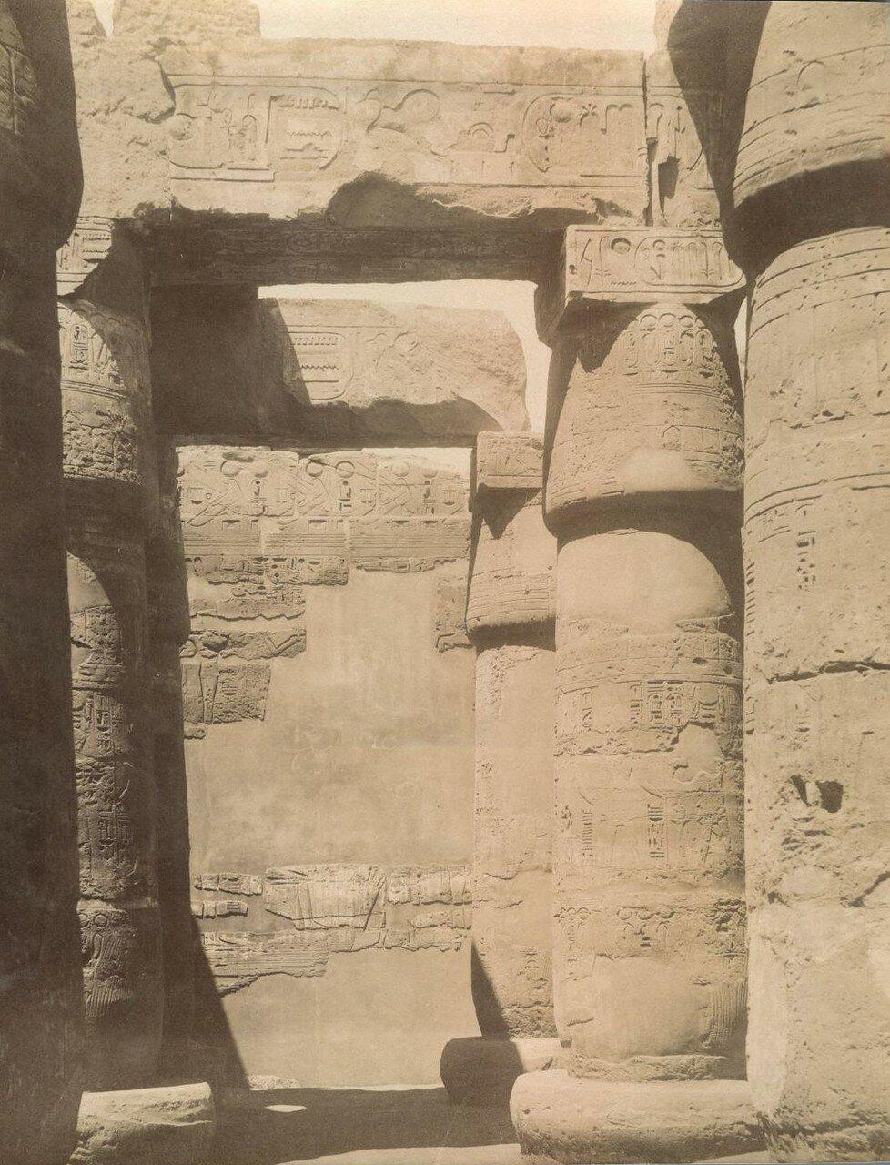 Карнак. Гипостильный зал храма  Рамзеса II
