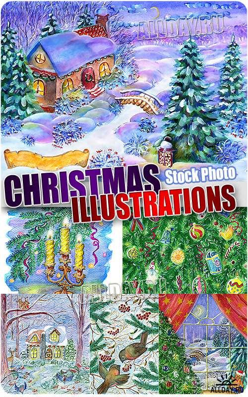 Новогодние иллюстрации - Растровый клипарт