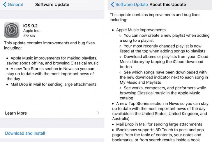 Apple выпустила iOS 9.2 иwatchOS 2.1