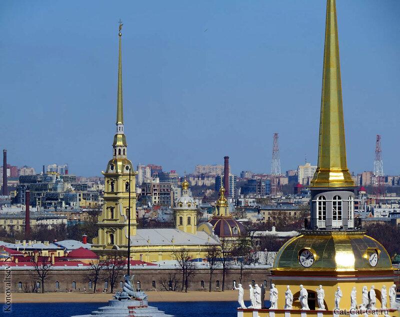 Петропавловский собор и адмиралтейство