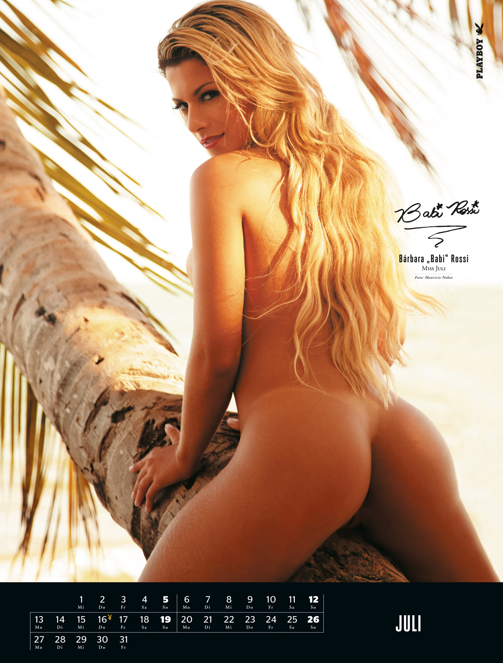 ����������� ��������� Playboy Germany Playmate Calendar 2015 - Miss July 2014 Barbara Babi Rossi
