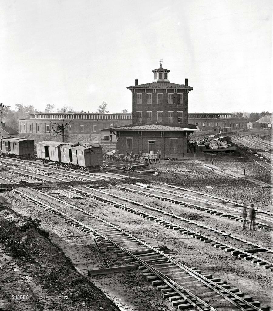 Железные дороги конца 19-го - начала 20-го века на снимках американских фотографов (5)