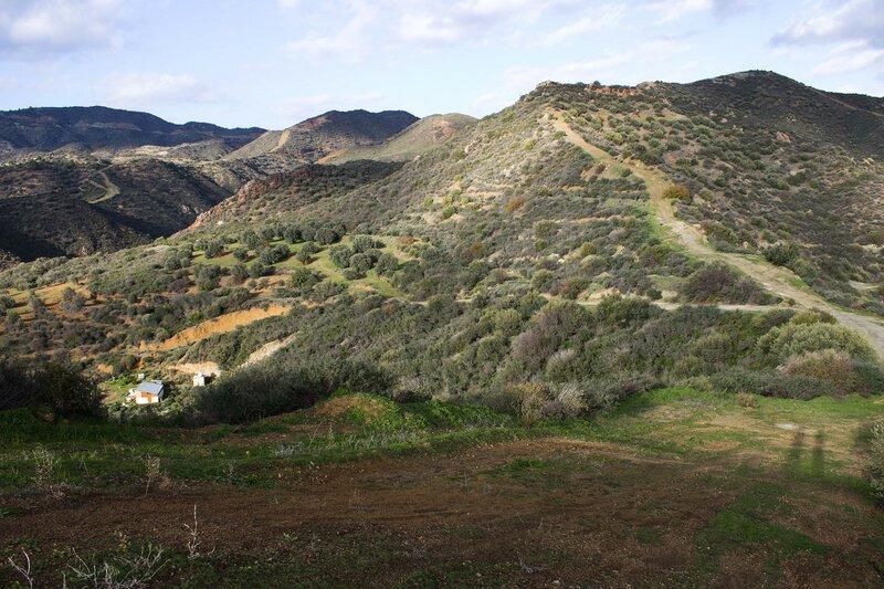 пейзаж в горах на Кипре