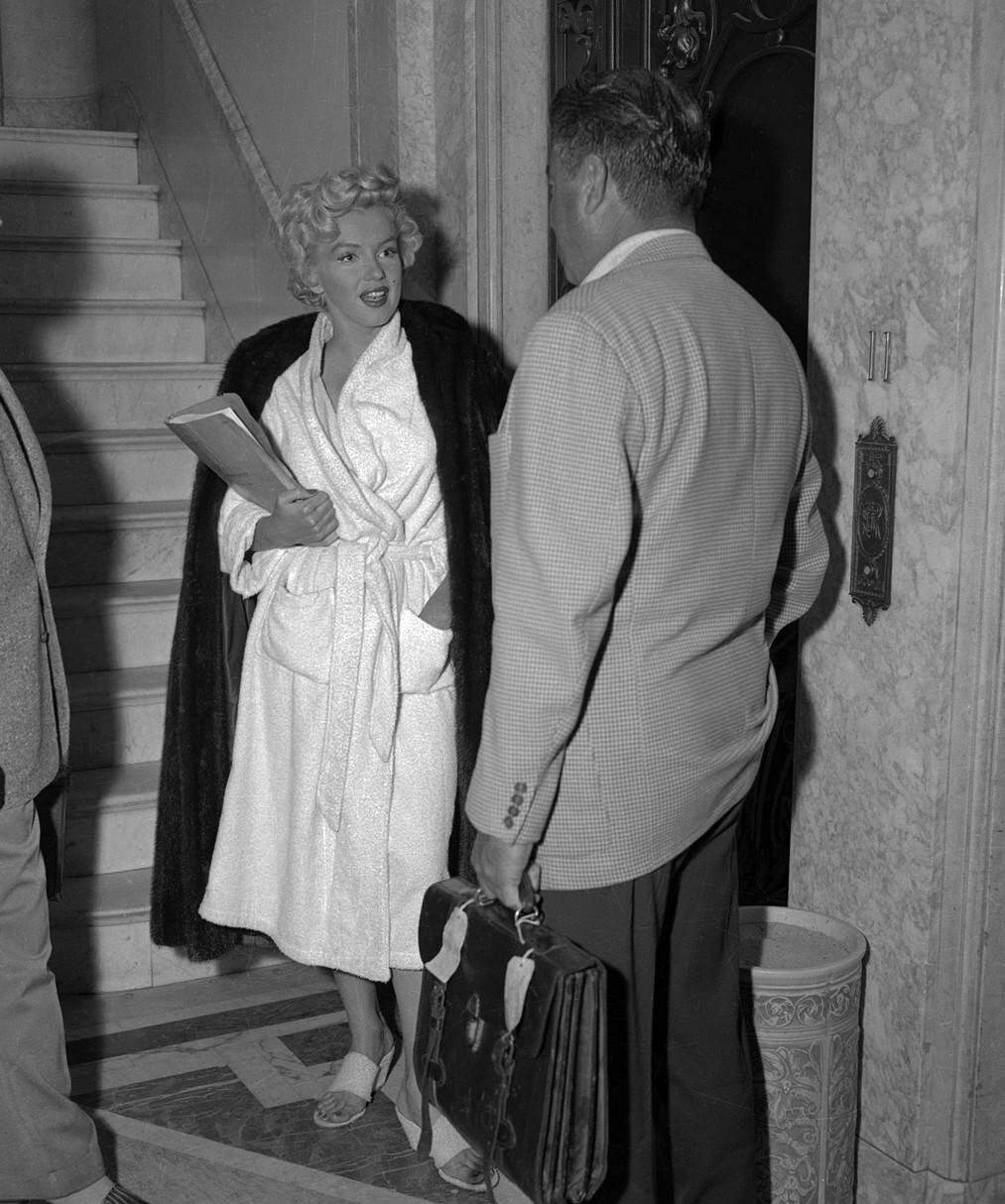 Marilyn Monroe During Filming