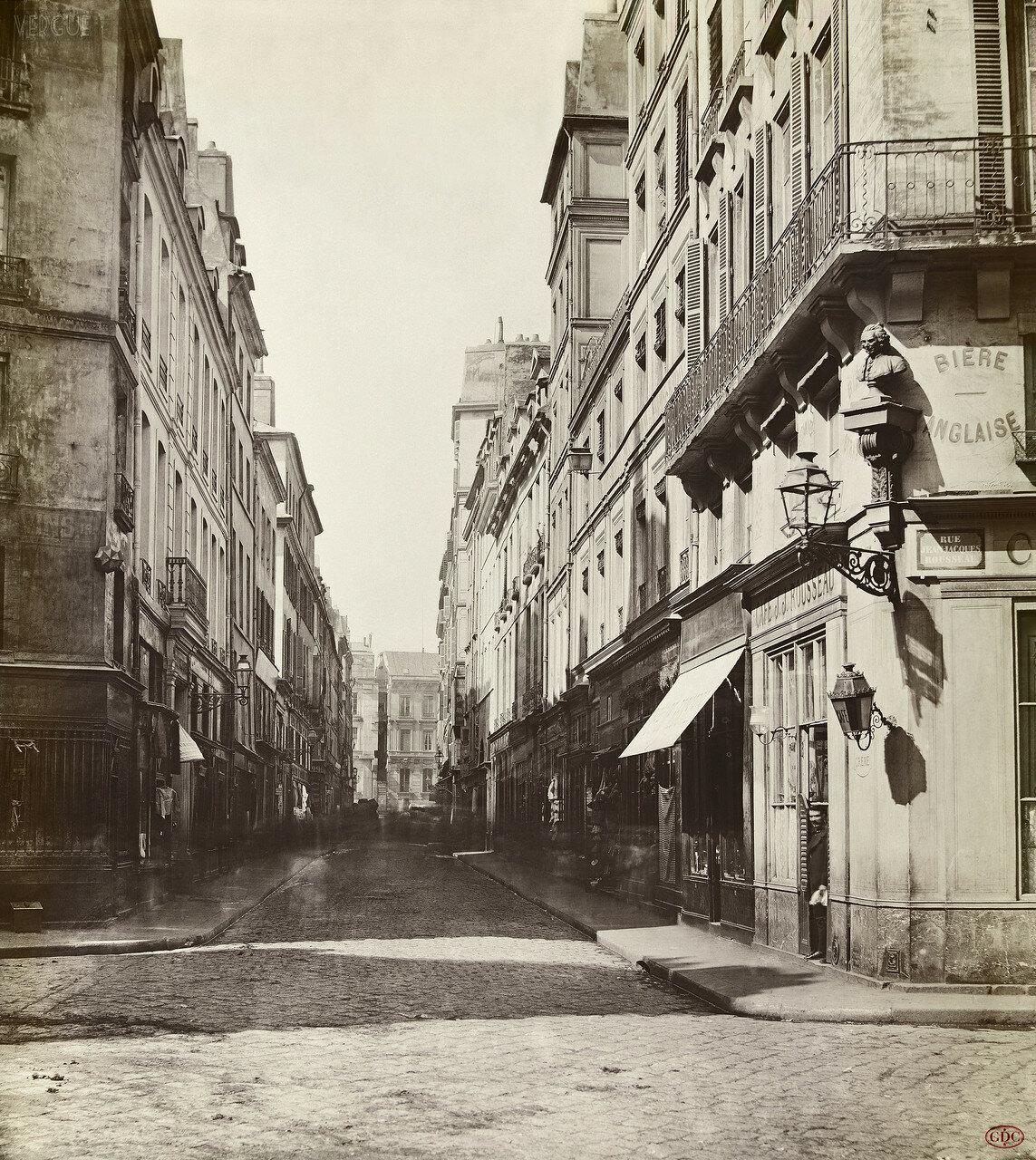 Рю Кокийер и Рю де ла Банк. 1868