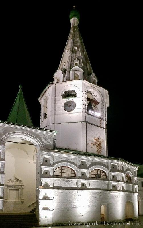 Суздальский кремль ночью