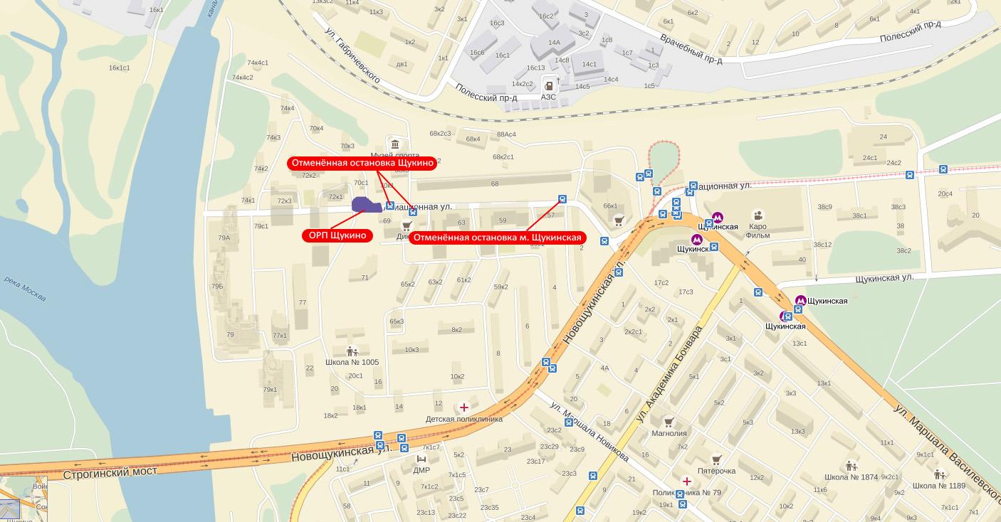 схема маршрута автобуса 253 москва