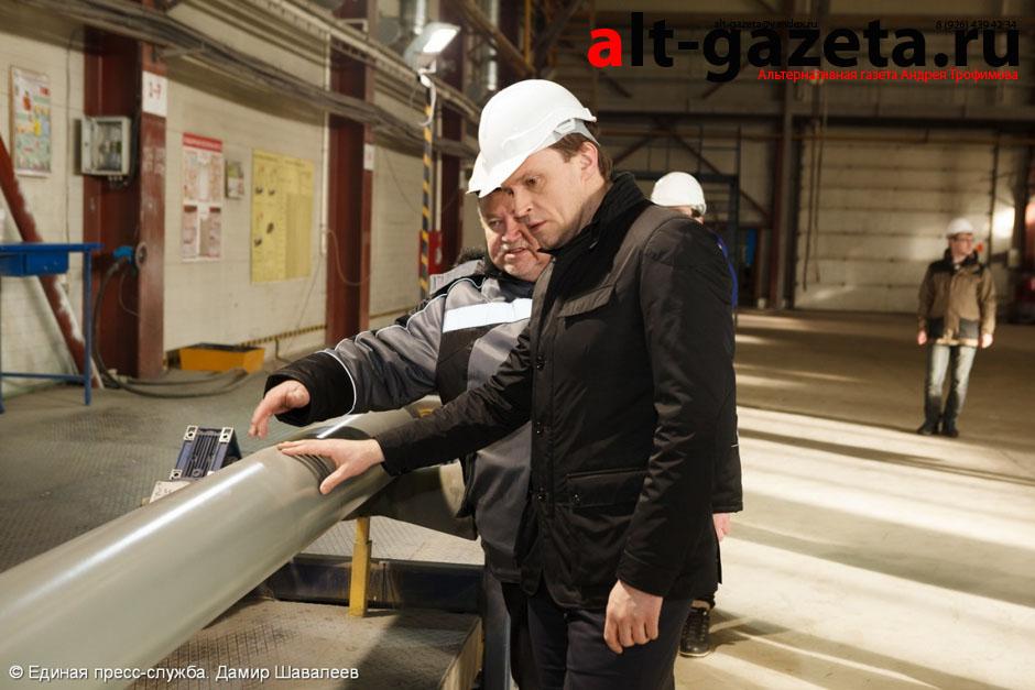 Пахомов посетил Изоляционный трубный завод