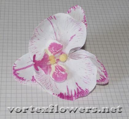 орхидея из ткани на ободке