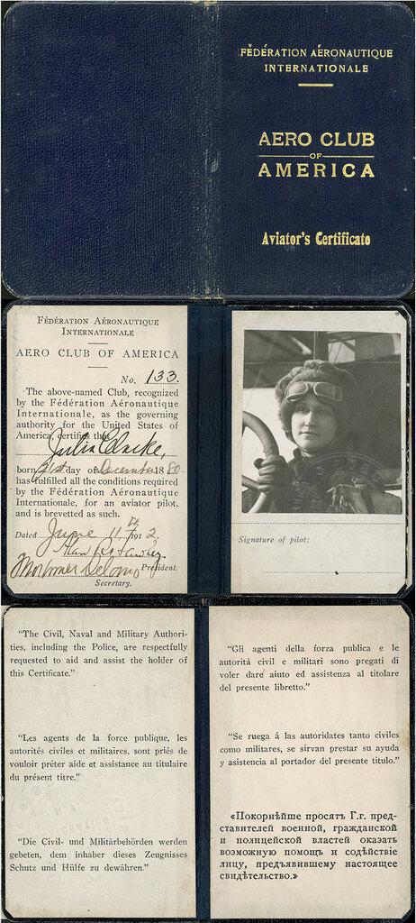 Aero club of America aviator's certificate, June 11th 1912