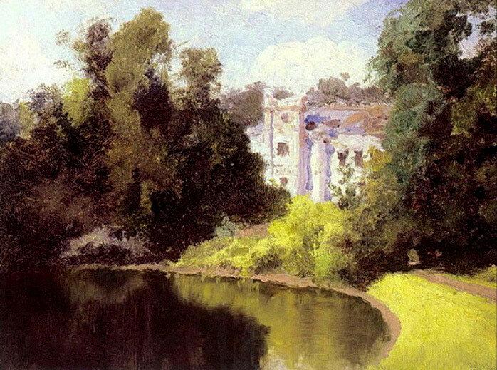 В.Д. Поленов. Пруд в парке. Ольшанка. 1877