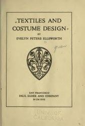 Книга Textiles and costume design