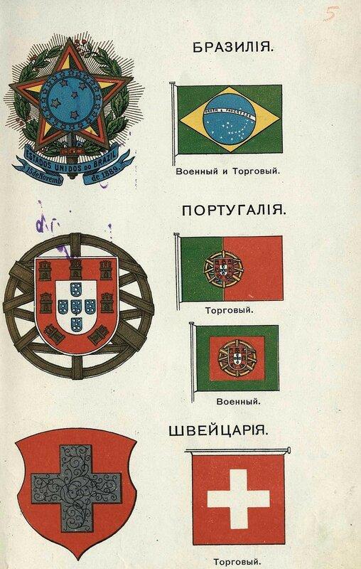 Бразилия, Португалия, Швейцария