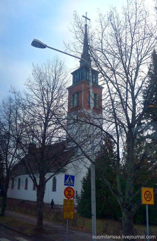 Лютеранская церквоь в Мюллюкоски.