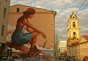Девушка. Рождественка. Москва