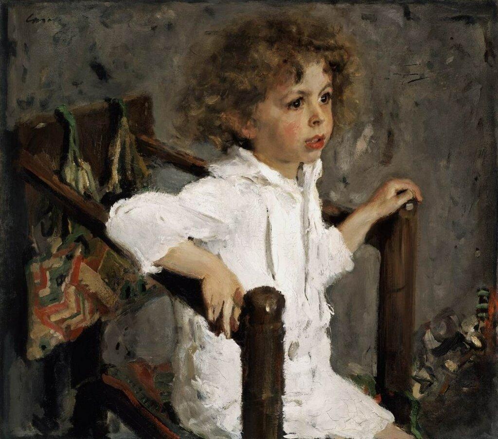 """В.Серов """"Портрет Мики Морозова"""", 1901."""