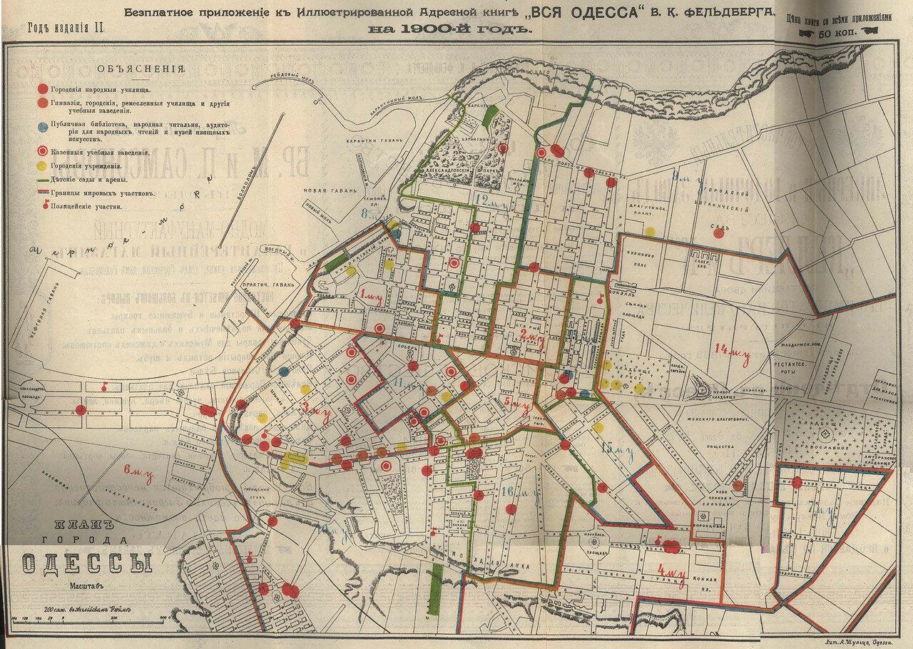 1900. План Одессы