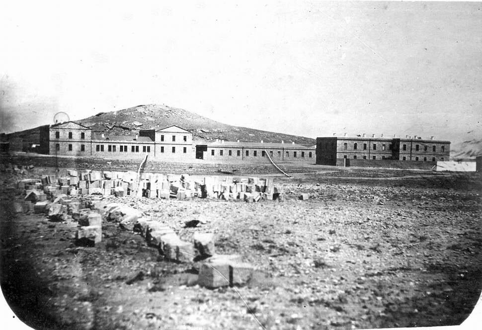 Морской госпиталь на Баиловском мысу. 1865