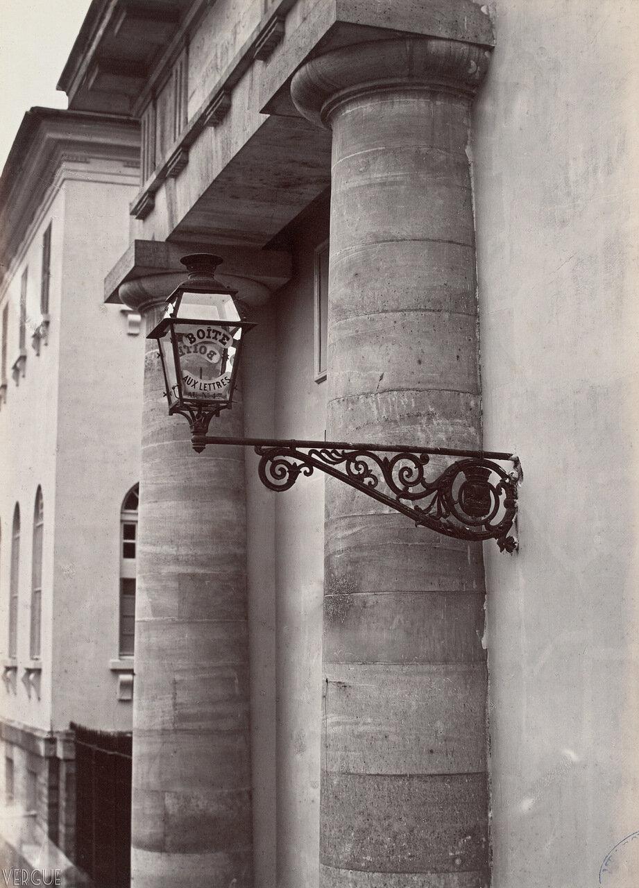 Газовый фонарь на больнице Кочин. 1870