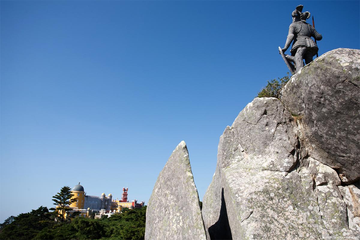 фото, фотография, Синтра, дворец Пена, Мавританская крепость
