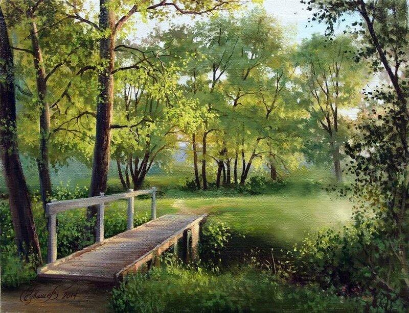Белорусский художник Олег Чувашев. Нежные пейзажи и натюрморты 0 1110c7 67dde09c XL