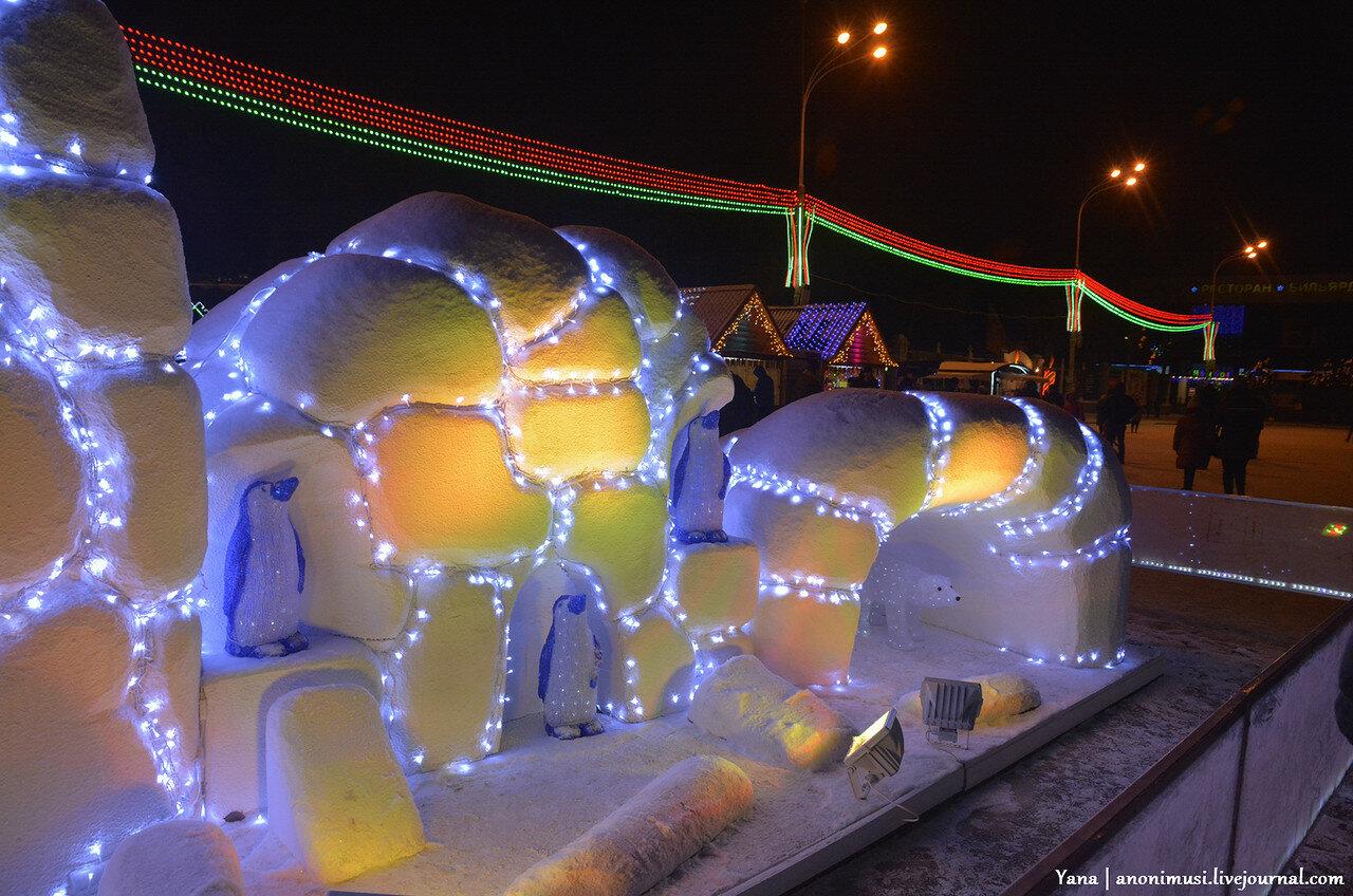 Ёлка на площади Ленина. Гомель