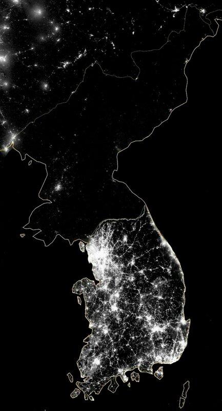 Северная Корея из космоса