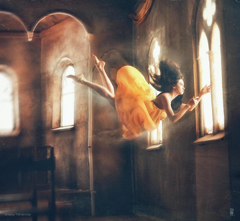 Нежный фотопроект Николая Тихомирова Zero gravity