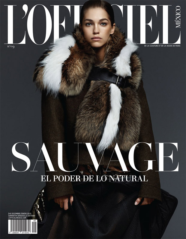 Саманта Градовиль (Samantha Gradoville) в журнале L'Officiel Mexico