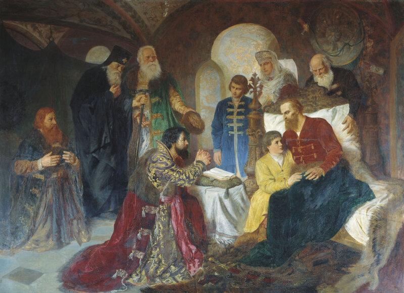 Больной князь Пожарский принимает московских послов