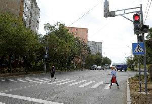 Во Владивостоке в районе Тихой появился новый светофор