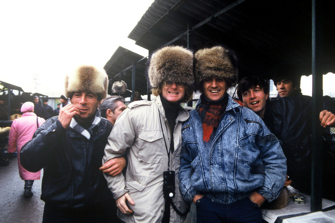 1991. Москва. На местном рынке