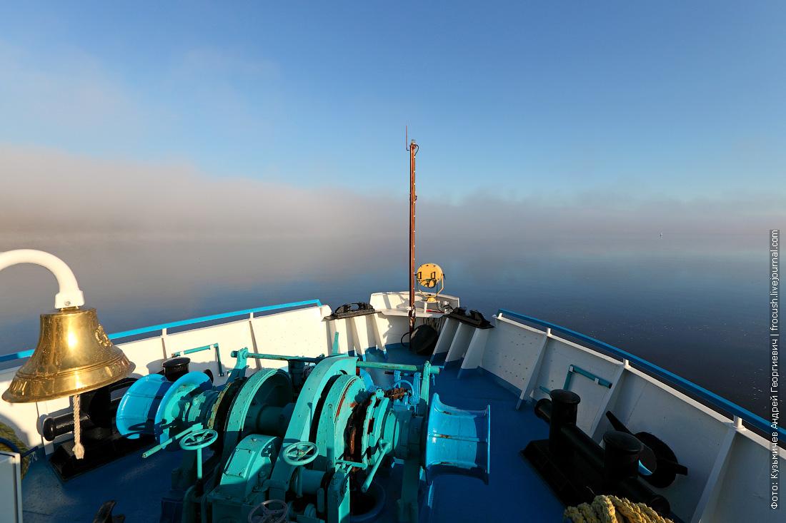 утренний туман на Волге