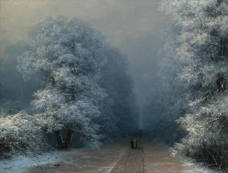 Зимний пейзаж, 1876