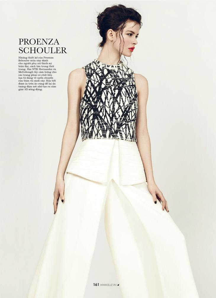 Isabelle Nicolay в апрельском номере  Elle Vietnam 2014