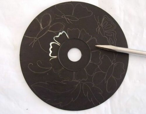 Красивые работы из СD-дисков