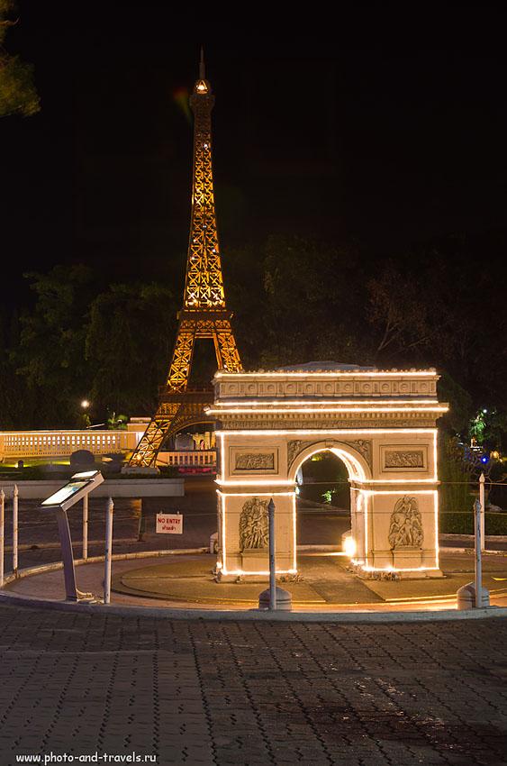 """12. Эйфелева Башня и Триумфальная арка из Парижа в парке """"Мини Сиам"""" в Паттайе. Отзывы туристов о поездке по интересным местам Таиланда."""