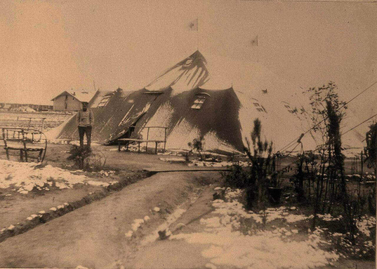 04. Вид одной из палаток, где размещался временный лазарет (на 84-м разъезде)