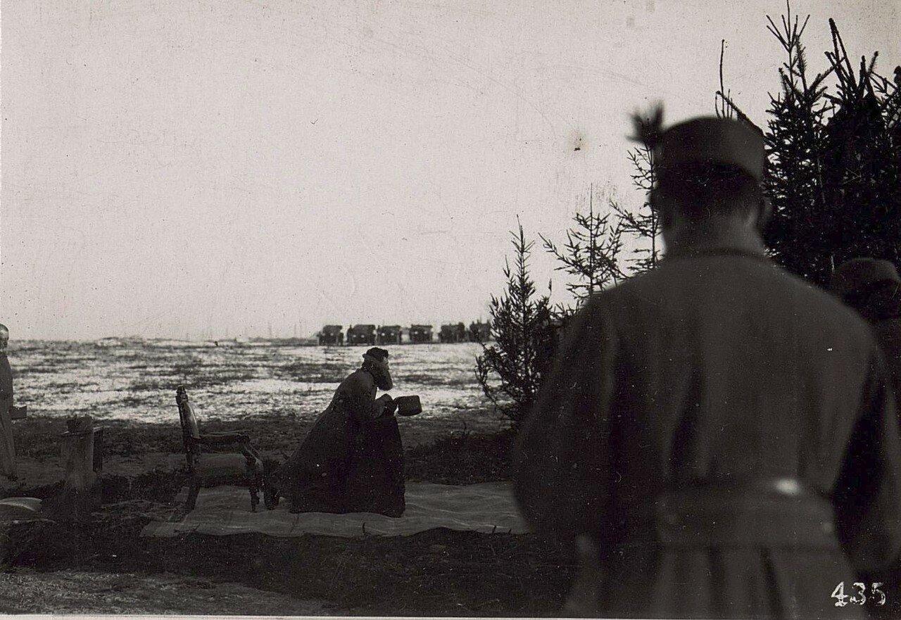 Teilnahme von Kaiser Karl an der Feldmesse in Wladimir Wolinsky