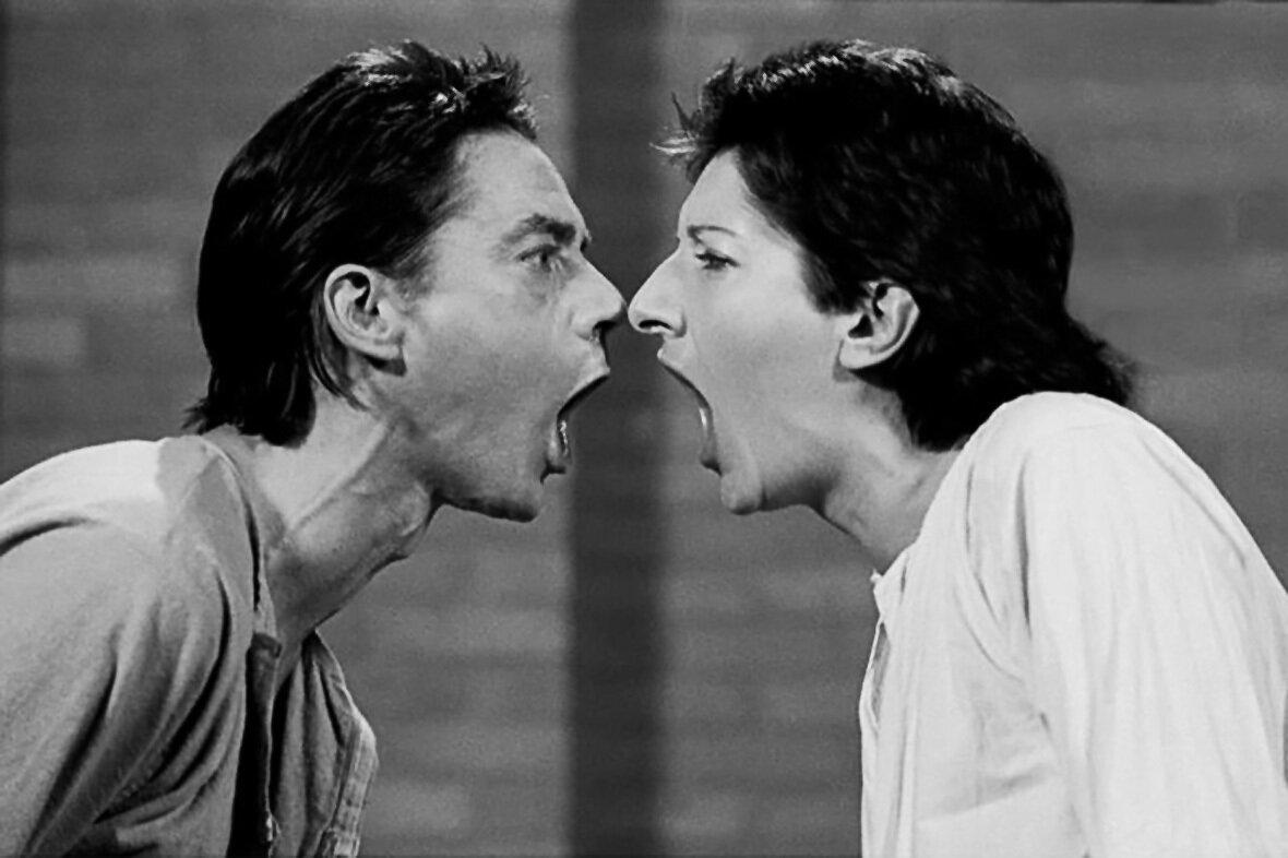 Марина Абрамович и Улай. ААА-ААА. Перформанс 15 минут, Бельгия, 1978 №2