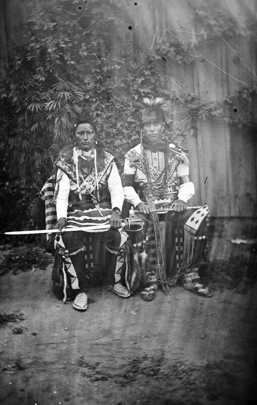 Two unidentified Dakota males, 1880s