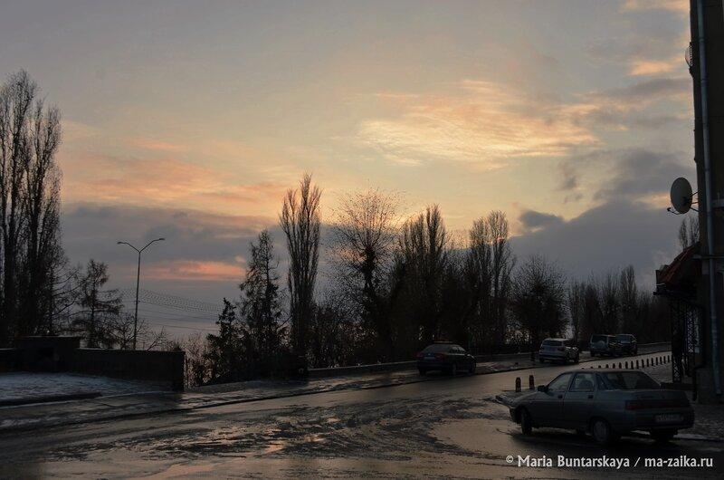 Ранний закат, Саратов, Набережная Космонавтов, 02 декабря 2014 года