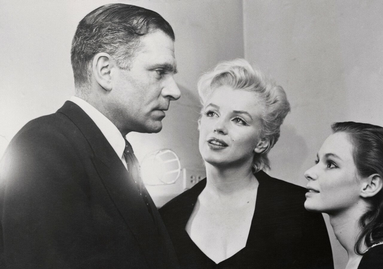 Marilyn Monroe, Laurence Olivier and Susan Strasberg